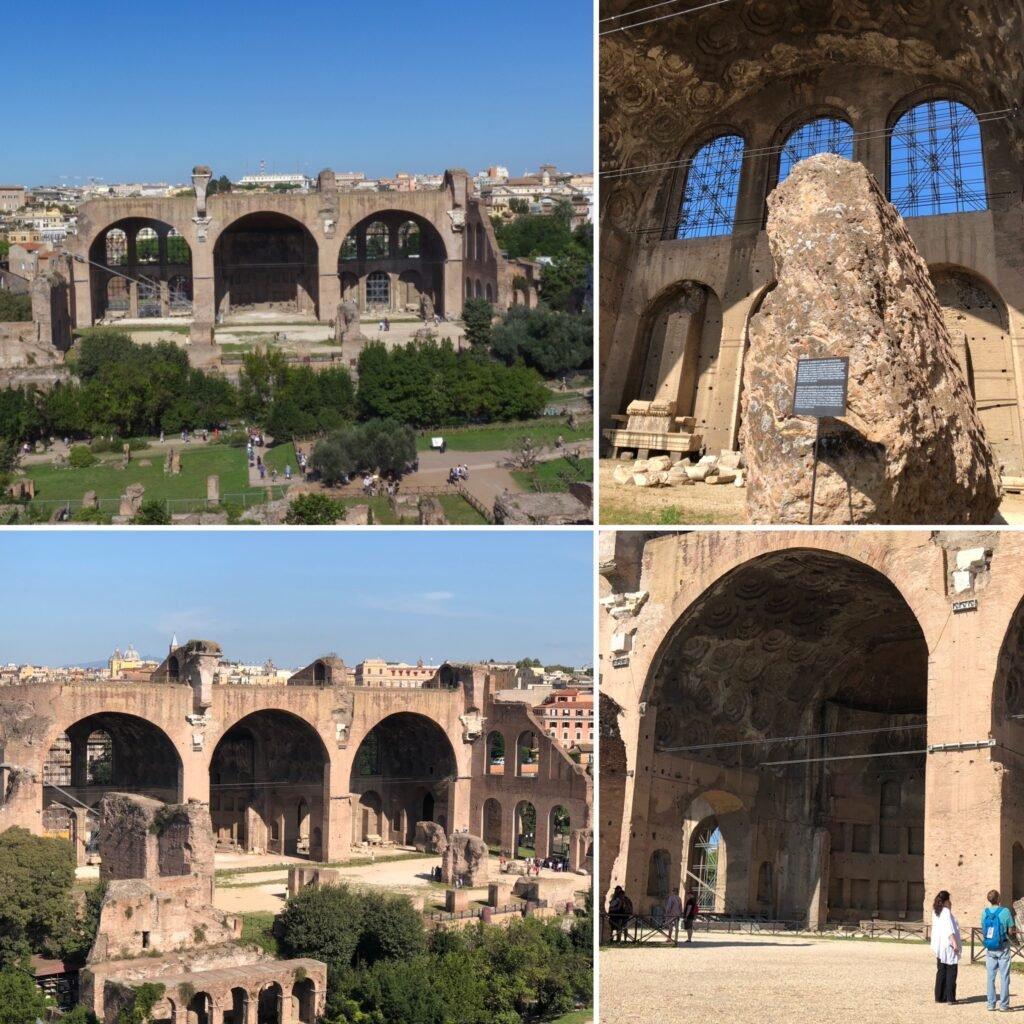 Basilica di Massenzio, localizada no Fórum Romano